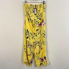Cotton On Womens S Romper Jumpsuit Elastic Bust Waist Crop Yellow Floral Z119