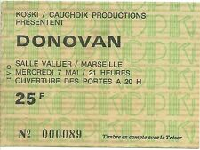 RARE / TICKET BILLET DE CONCERT - DONOVAN : LIVE A MARSEILLE ( FRANCE ) 1975