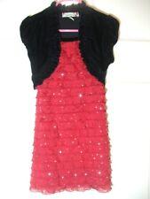 Girls Dress LOVE by Speechless SIZE 5 Sparkley Red Skirt Velvet Top Pretty!