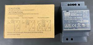 Mean Well HDR-60-12 60 Watt (60W) Slimline DIN Rail Power Supply 12V DC 4.5A
