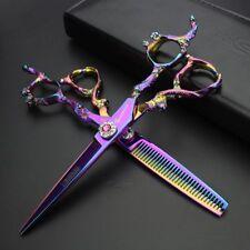 Professional Japan 440c Hairdressing Scissors Set Salon Modeling Barber Kit