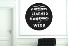 He Who Knows Others Learned Circle Vinilo Pegatinas De Pared Adhesivo Decoración