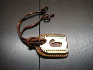 Dooney & Bourke Brass & Leather Duck Purse Charm / Fob