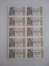 Billete entero Lotería Nacional sorteo 1/1970 (5 de Enero) ROSA DE LOS VIENTOS