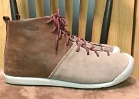 Women's Keen East Side Brown Tan Leather Lace Up Ankle Bootie Boot Shoe 8.5
