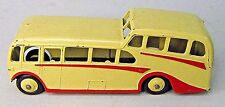 1950's Dinky #280 OBSERVATION COACH  BUS pale yellow with red trim diecast x