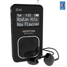 AZATOM Pro Sport DAB Portable FM Radio Earphone Personnel Travel Digital - Black