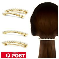Elegant String of Pearls Hair Barrette 8cm Pin Hairpin Korea Ponytail Clasp Clip