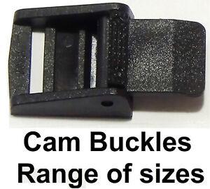Cam Lock Buckle Clamp Fix Lever Fastner Backpack Webbing Strap Repair UK