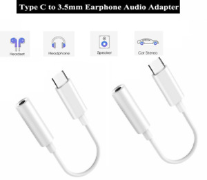 USB C to 3.5mm Headphone Jack Adapter with Digital Audio Jack Adapter 2 Packs AU