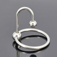Stainless Steel Penis Ring Urethral Plug Delay Premature Ejaculation For Male