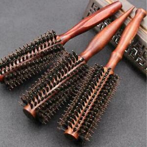 Useful Round Wooden Handle Hairdressing Boar Bristle Hair K3W4 Brush Com Cu H2F4