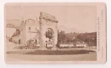 Vintage CDV Roman Ruins  at Aix-les-Bains France Great Image  Demay Photo