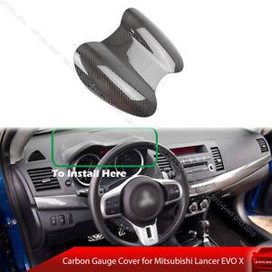 Fit For Mitsubishi Lancer EVO X 10th Gauge Speedometer Cover Carbon Fiber