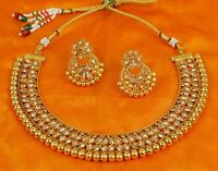 Bollywood Style Fashion Wedding Gold Plated Necklace Earring Jewelry