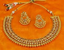 Indian Bollywood Style Fashion Wedding Gold Plated Necklace Earring Jewelry