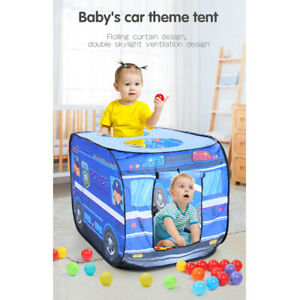 Kids Play Tent Pretend Playhouse Indoor Outdoor Game Quick Set Up police car