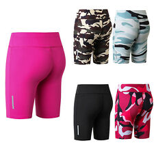 Womens Activewear Yoga Shorts High Waist Athletic Gym Fitness Workout Trunks AU