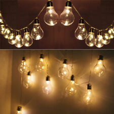 Warm White 10 Edison Bulbs 20 Stars LED 8.2FT String Fairy Lights Parasol Gazebo