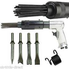 Air Hammer Descaler Needle Gun Tool Kit Paint & Rust Remover 19 Pin 4 x Chisels