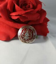 Sterling Silver Red Siam Sterling 5 g Pin Brooch Cat Rescue