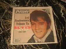 """ELVIS PRESLEY MODERN PEOPLE SPECIAL  PAPER 1980 WITH POSTER 23""""-11""""LAST EDITION"""