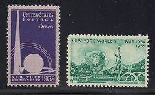 1939 & 1964 NEW YORK WORLD'S FAIR -  2 U.S. POSTAGE STAMPS - MINT CONDITION
