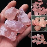 Natural Pink/Rose Quartz Crystal Stone Rock Mineral Specimen Lucky Healing