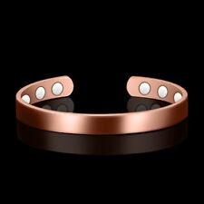 Magnetic Bracelet Plain Copper Ladies Men Healing Arthritis Pain Cuff