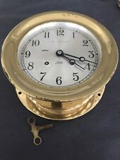 """Old Chelsea Ship'S Bell Marshall Field Running Working Clock 7.25"""" dia 5.5"""" Dial"""