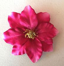 Blumenanstecker/ Anstecker mit Blüte - Klematis pink Hochzeit