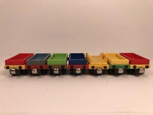 2009 Mattel Thomas & Friends Cargo Car For Trains Bundle Lot Of 7 Tender