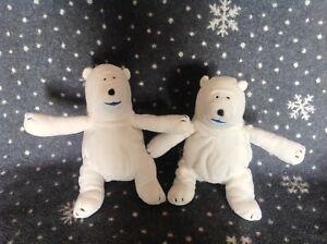 "BIRDS EYE TV Advert Clarence The Polar Bear Bundle Soft Plush Toy 9"" Tall NEW"