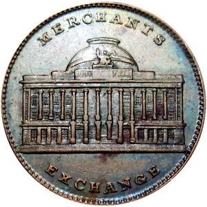1837 New York City Hard Times Token Merchant's Joint Stock Exchange HT-294