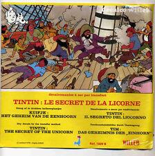 Hergé Tintin Le Secret de la Licorne Décalcomanies 1978 comme neuf
