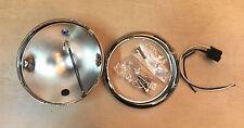 """Custom Side Mount Headlight Bucket Kit 5 3/4"""" Chrome Harley Chopper Bobber"""