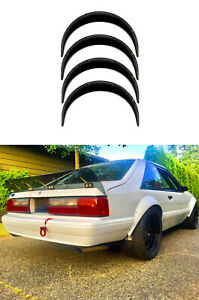"""Ford Mustang3 Fender Flares JDM wide body kit wheel arch foxbody3.5""""90mm 4pcs KL"""