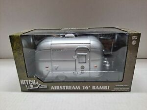 Greenlight Hitch & Tow - Airstream 16' Bambi Sport Green Machine 1:24 Chase