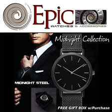 EPIC TIME- Midnight Steel Black Dress Watch