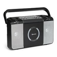 Lecteur CD Portable MP3 Radio FM Boombox Ghettoblaser USB Design Vintage Noir