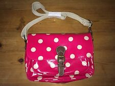 CATH KIDSTON Button Spot Mini Saddle Bag Cross Body Bag Leather Trim FreeUKP&P