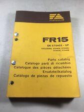 Fiat Allis Fr15 Wheel Loader Parts Catalog