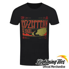 Official Led Zeppelin & Smoke Rock Band T-Shirt