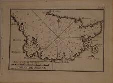 CARTE MARINE XVIII° SIECLE JOSEPH ROUX 1764  GOLFE DE SMYRNE IZMIR TURQUIE
