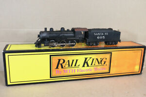RAIL KING Mth 30-1136-0 Réparation 3 O Santa Fe At&sf 2-6-0 Locomotive 605 NZ
