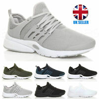 MENS LACE UP SPORTS GYM FITNESS RUNNING FLEXIBLE TRAINERS CASUAL SNEAKERS SIZE