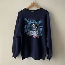 Vintage Polaris Snowmobiling Crewneck Sweatshirt Mens Large Navy Blue Hanes