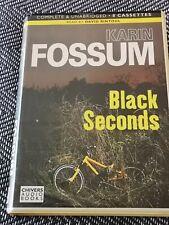 KARIN FOSSUM - BLACK SECONDS - Chivers audio book 8 CASSETTE