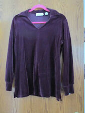 Dana Buchman burgundy velour tunic and long skirt set - Medium