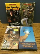 Lot of 4 Vhs Hunting Vcr Videos, Jeff Foxworthy, Moombeams, Tree Lounge